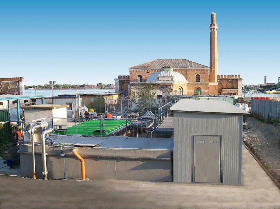 Arsenale di Venezia: impianto di Depur Padana Acque per trattamento acque e impianto di depurazione