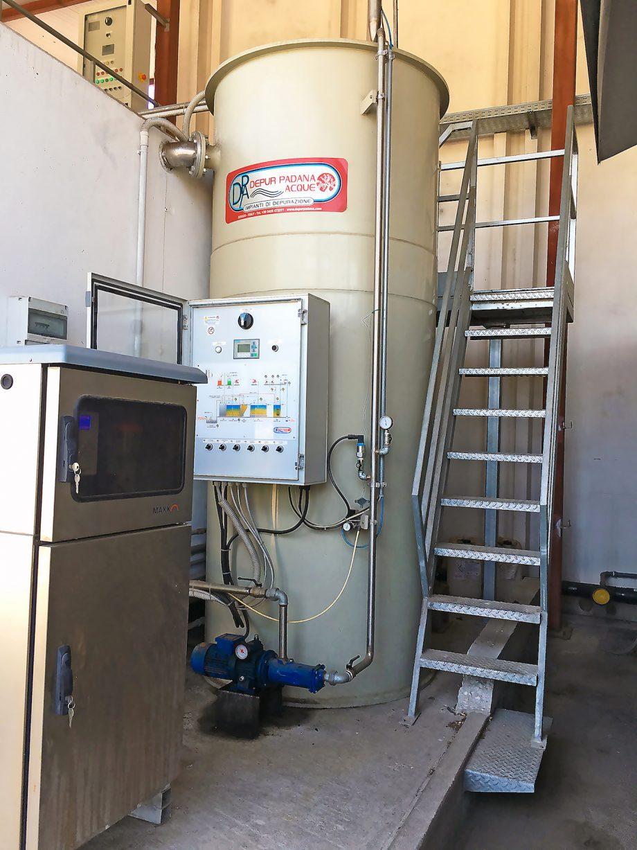 Borsari: impianto di Depur Padana Acque per trattamento acque e impianto di depurazione