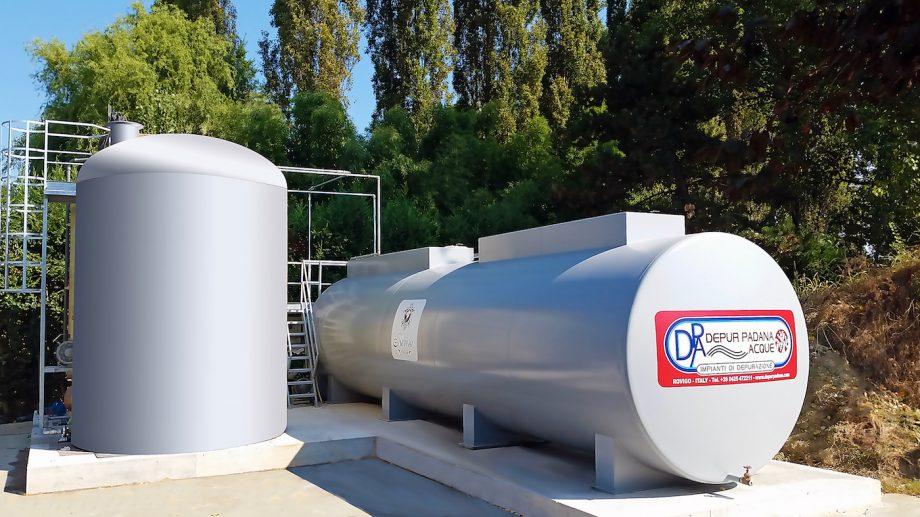 Cantina vinicola Revini: impianto di Depur Padana Acque per trattamento acque e impianto di depurazione