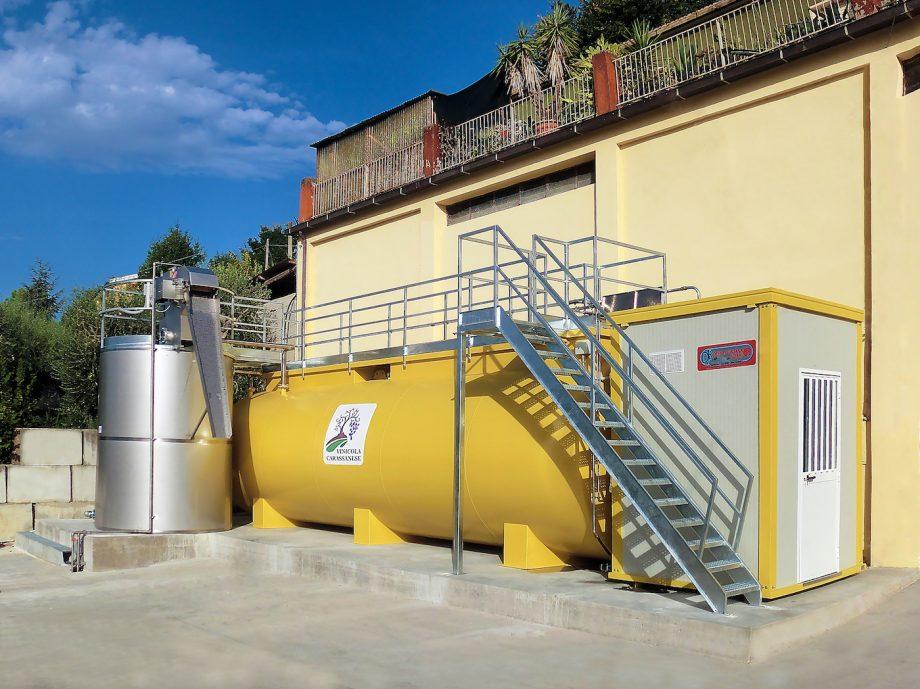 Cantina vinicola Carassanese: impianto di Depur Padana Acque per trattamento acque e impianto di depurazione