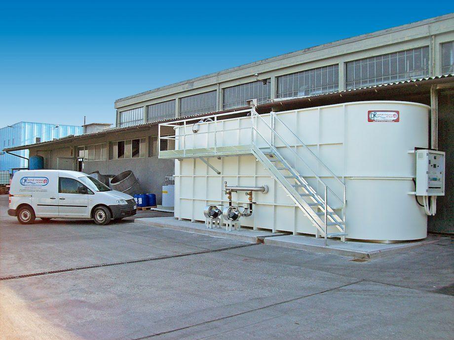 Colorificio Lechler: impianto di Depur Padana Acque per trattamento acque e impianto di depurazione