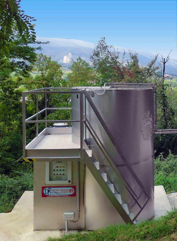 Cantina vinicola Masciarelli: impianto di Depur Padana Acque per trattamento acque e impianto di depurazione