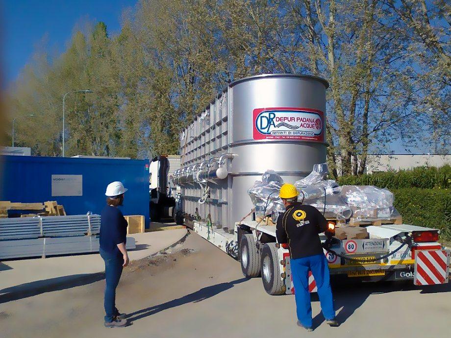 Janssen Cilag: impianto di Depur Padana Acque per trattamento acque e impianto di depurazione