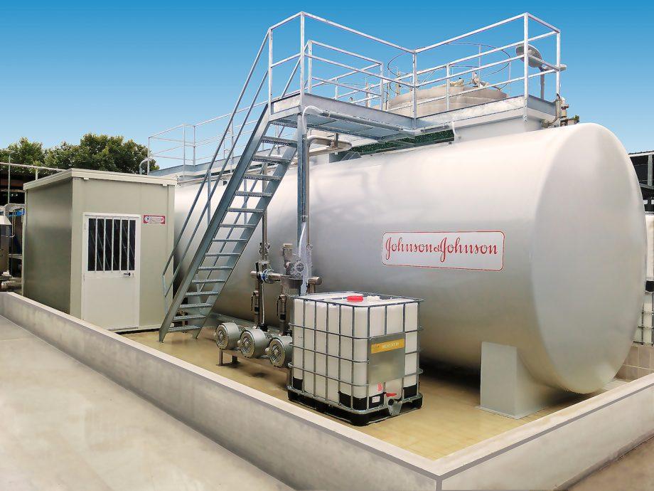 Johnson & Johnson: impianto di Depur Padana Acque per trattamento acque e impianto di depurazione