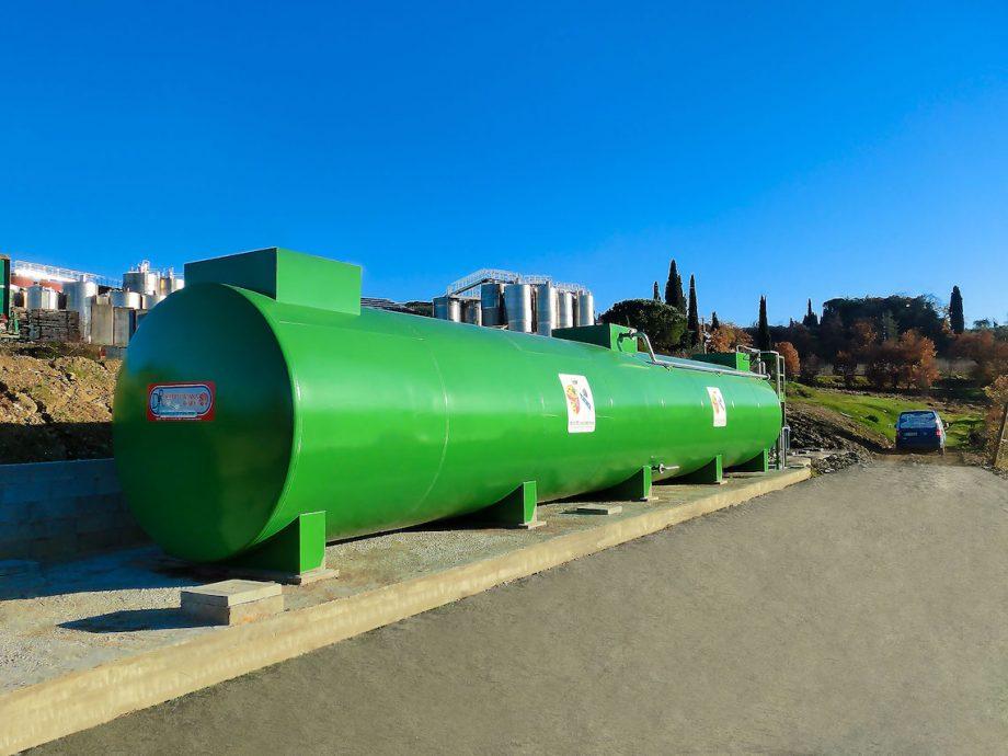 Tenute San Fabiano: impianto di Depur Padana Acque per trattamento acque e impianto di depurazione