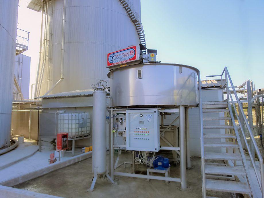 Uningrà: impianto di Depur Padana Acque per trattamento acque e impianto di depurazione