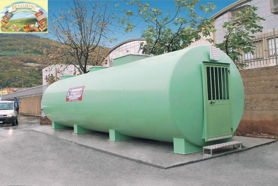 Industria dolciaria Beniamino: impianto di Depur Padana Acque per trattamento acque e impianto di depurazione