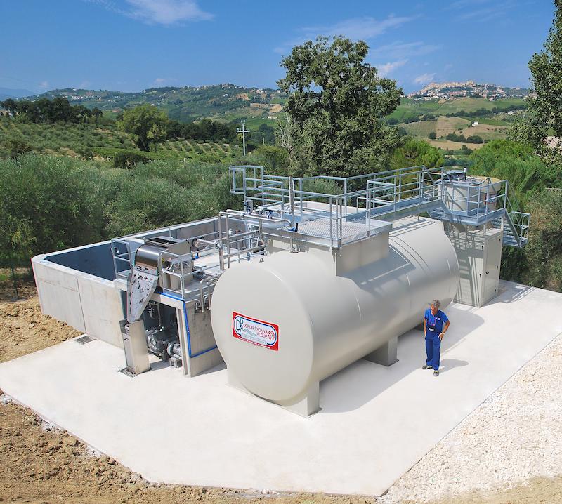 Cantina sociale Vacrì: impianto di Depur Padana Acque per trattamento acque e impianto di depurazione