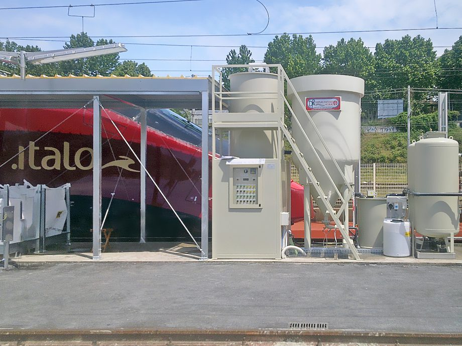Italo: impianto di Depur Padana Acque per trattamento acque e impianto di depurazione