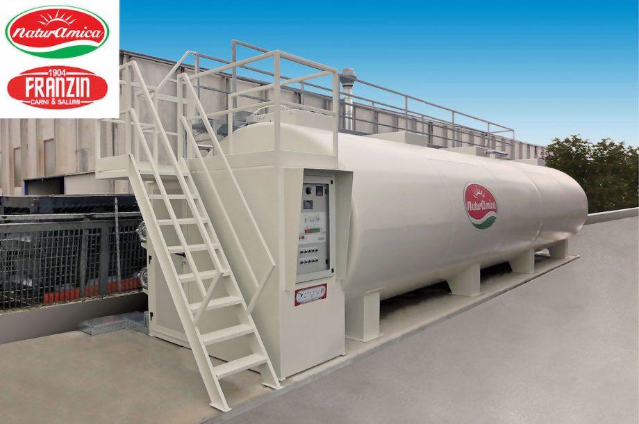 Naturamica carni e salumi: impianto di Depur Padana Acque per trattamento acque e impianto di depurazione