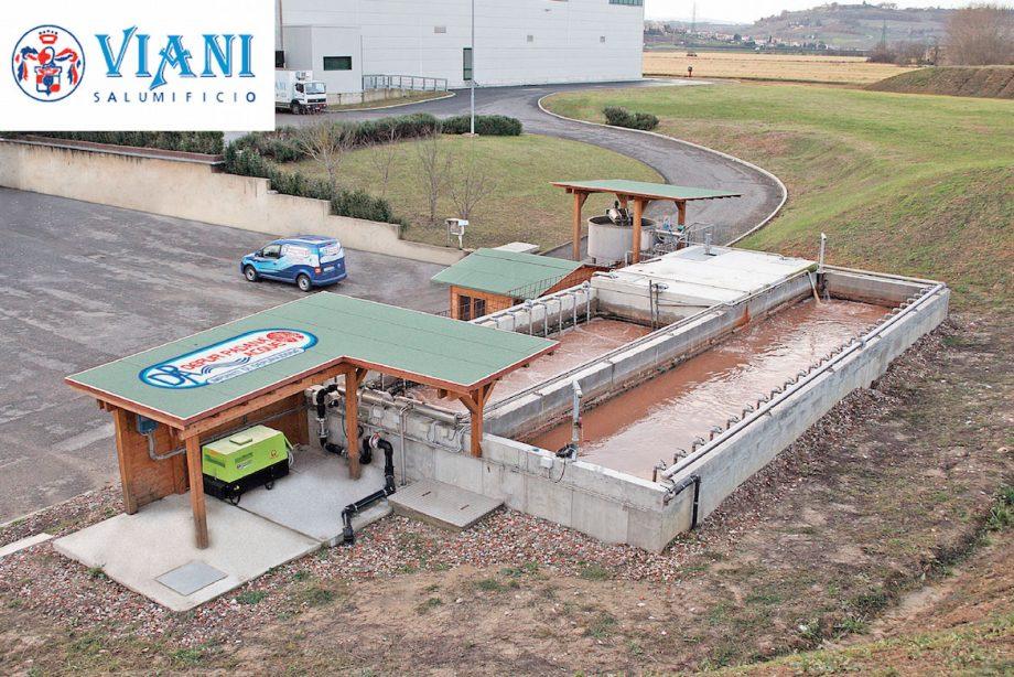 Salumificio Viani: impianto di Depur Padana Acque per trattamento acque e impianto di depurazione