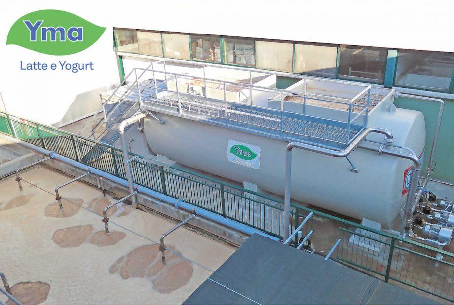 Yma latte e yogurt: impianto di Depur Padana Acque per trattamento acque e impianto di depurazione
