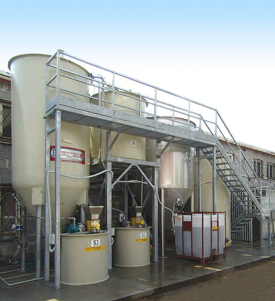 Pasterski: impianto di Depur Padana Acque per trattamento acque e impianto di depurazione