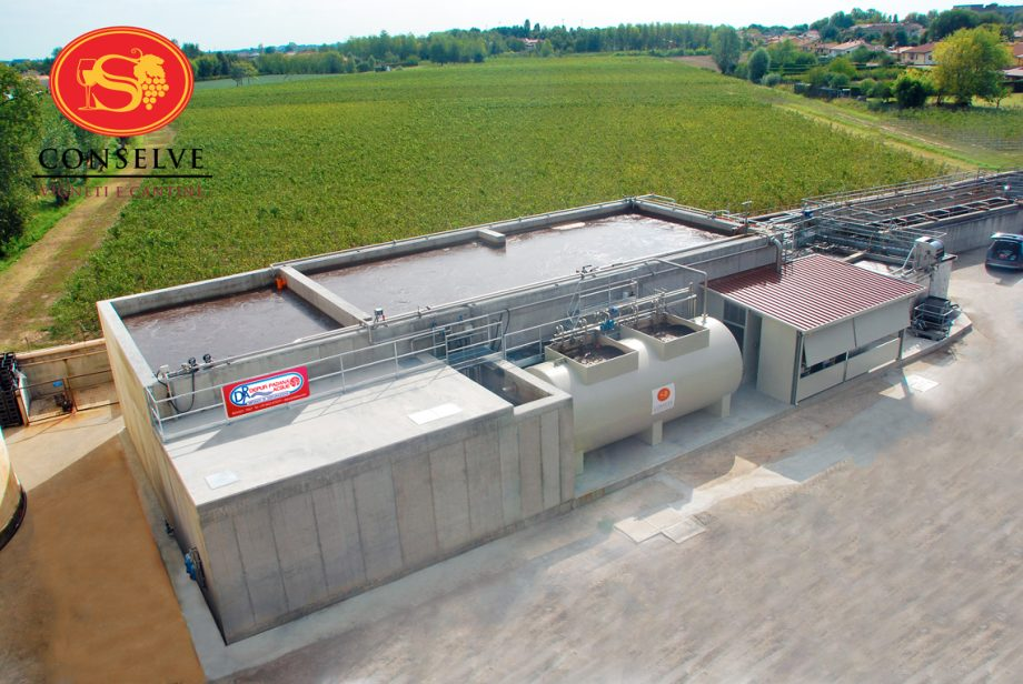 Cantina Conselve: impianto di Depur Padana Acque per trattamento acque e impianto di depurazione